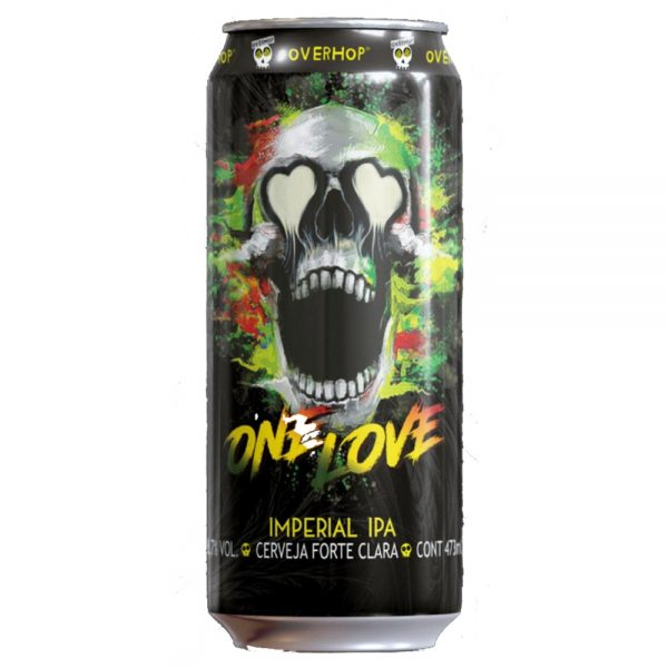 Cerveja Overhop One Love Imperial Ipa Lata 473ml
