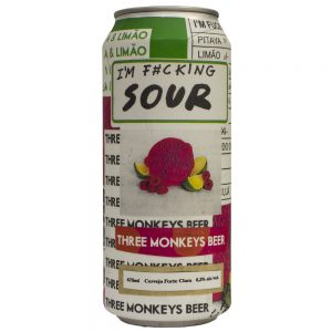 Cerveja Three Monkeys I'm Fucking Sour Lata 473 ml
