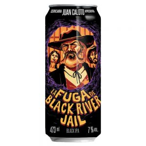 Cerveja Juan Caloto La Fuga de Black River Jail Black IPA Lata 473 ml