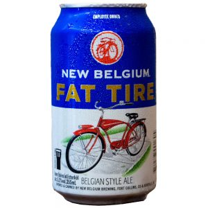Cerveja New Belgium Fat Tire Belgian Amber Ale Lata 355 ml