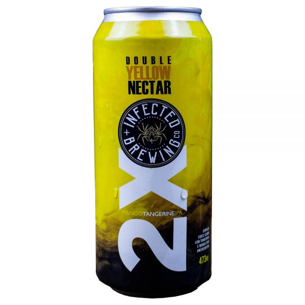 Cerveja Infected Double Yellow Nectar NEDIPA Lata 473 ml