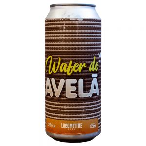 Cerveja Locomotive Wafer de Avela Imperial Rye Porter Lata 473 ml