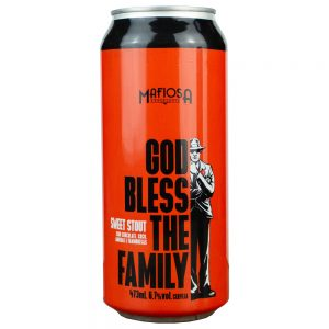 Cerveja Mafiosa God Bless the Family Sweet Stout Lata 473 ml