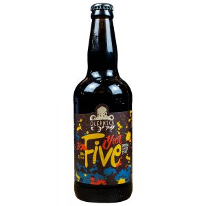 Cerveja Oceânica Year Five Imperial Coffee Stout Lata 473 ml