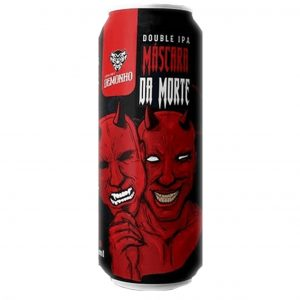 Cerveja Demonho Máscara da Morte West Coast Double IPA Lata 473 ml