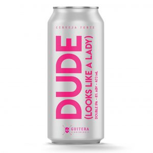 Cerveja Guitera Dude Double IPA Lata 473 ml
