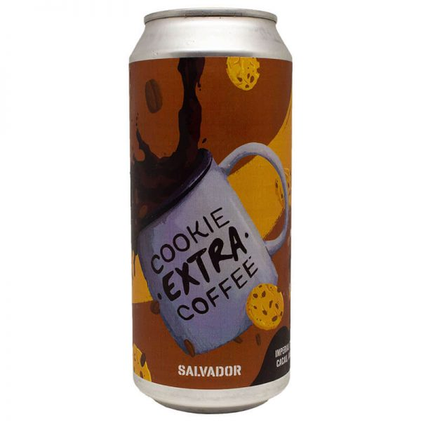 Cerveja Salvador Cookie Extra Coffee Pastry Stout Lata 473 ml
